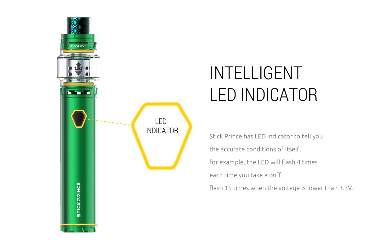 Kit Stick P25 de Smok indicador LED