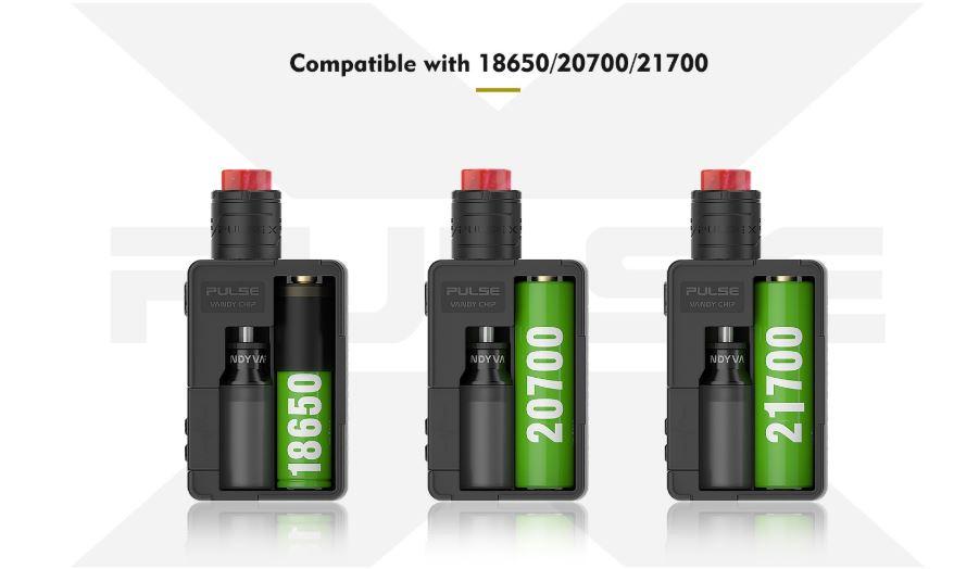 Mod Pulse X BF de Vandy Vape Baterías