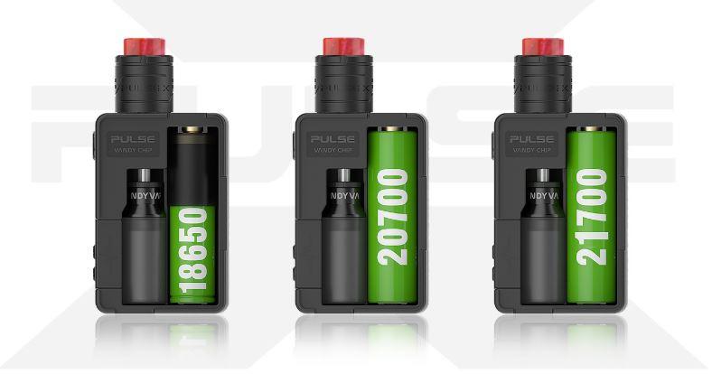 Kit Pulse X BF + Pulse X RDA de Vandy Vape Baterías
