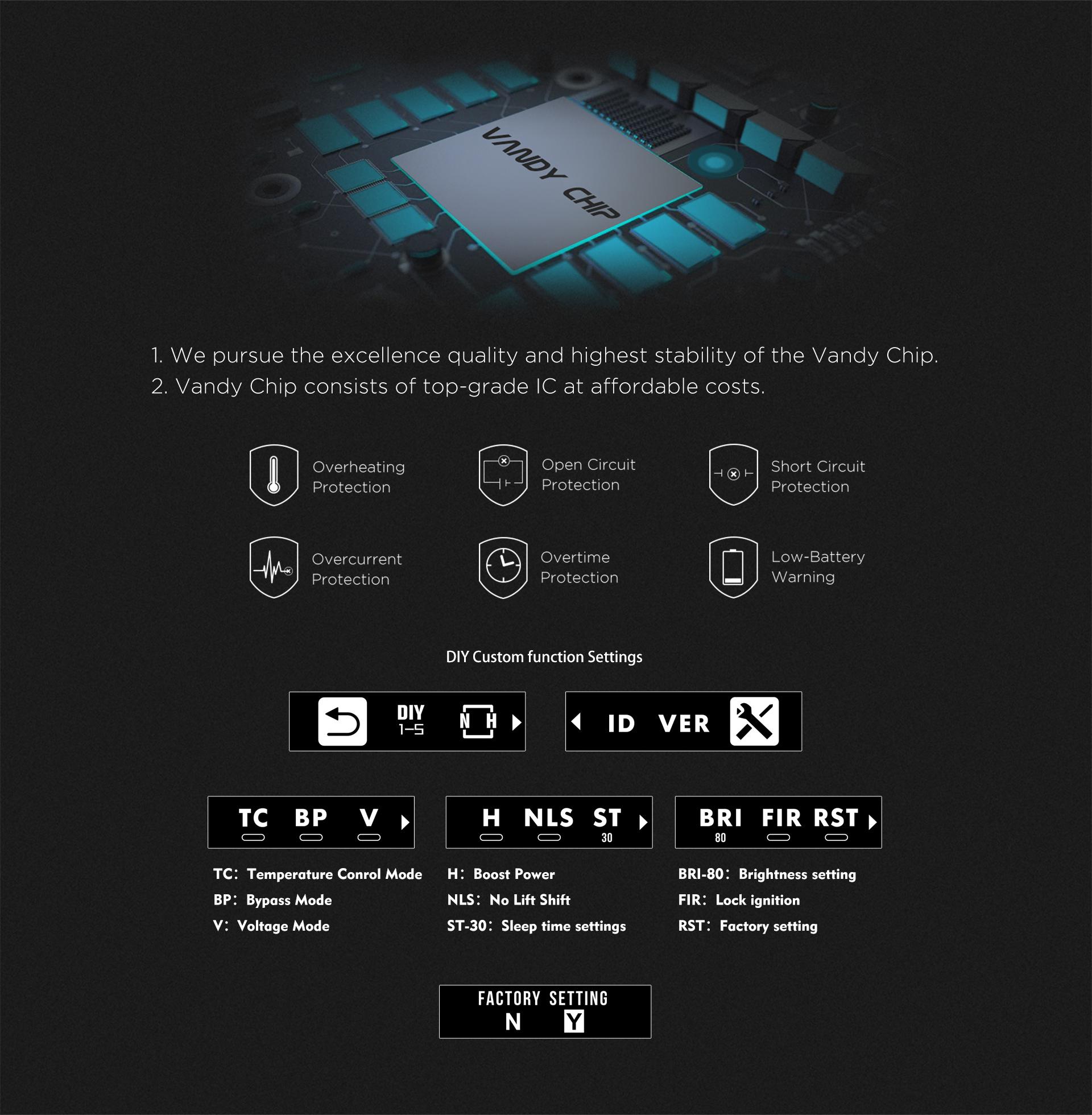 Kit Pulse X BF + Pulse X RDA de Vandy Vape Chip